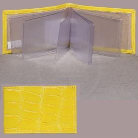 Визитница Cayman-17К  (18листов)  натуральная кожа желтый скат (84)  172717
