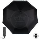 Зонт муж ТриСлона-795,    R=58см,    3слож,    суперавт,    8спиц,    полиэстер. черный