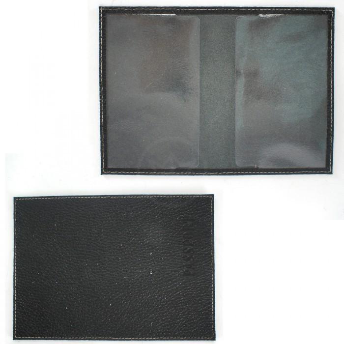 Обложка для паспорта FNX-УП-001 натуральная кожа черный флотер (221) Артикул: 175148 Размеры: 9 x 13 см. Бренд: Феникс