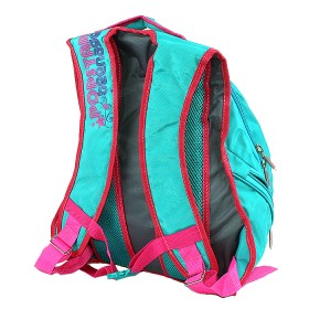 Рюкзак Арлион-385  эргоном спинка,    2отд,    3 внеш карм,    бирюза/розовый