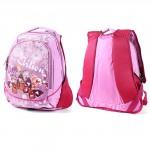 Рюкзак Арлион-399 эргоном спинка,    2отд,    2 внеш карм,    розовый,    бабочки
