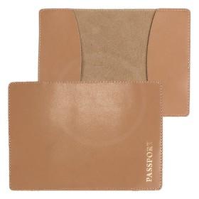 Обложка для паспорта FNX-PVS-001 натуральная кожа бежевый гладкий (257)  176060