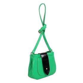 Сумка женская искусственная кожа ADEL-21/ЗФ/ММ,  1отд,  плечевой ремень,  зеленый+черн SALE 176575