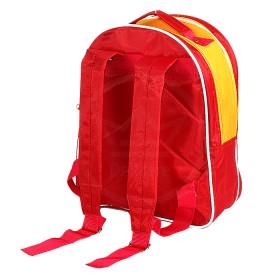 "Рюкзак Rinax-""Степка"",  уплотнен спинка,  2отд,  2внеш карм, ""Собака"",  красный/желтый 177411"
