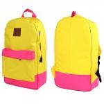 Рюкзак Gaib-ТК-1014,    уплотн.спинка,    1отд+перег,    1внеш карм,    желтый+розовый SALE