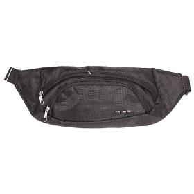Сумка мужская Rise-к-003    (текстиль)    поясная,    3отд,    черный