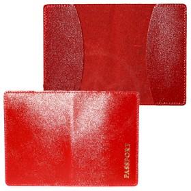 Обложка для паспорта FNX-PVS-001 натуральная кожа красный матовый (316)  180382