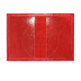 Обложка для паспорта Cayman-П 11Л натуральная кожа алый матовый (14)  180386