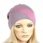 Шапка-колпак женская Ver-V 002    (одинарная) ,   55%Вискоза,    45%Полиэстр,    пурпурный/розовый SALE