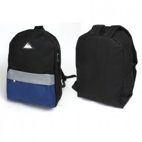 Рюкзак Rise-м-259   (1-3-2) ,    молодежный,    уплотн.спинка,    1отд,    1внеш карм,    черн/сер/синий