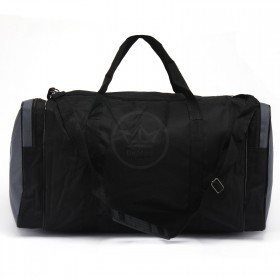 Сумка Sarabella-С 068 дорож,    жесткое дно,    1отд,    3внеш карм,    плечевой ремень,    черный/серый