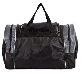 Сумка Sarabella-С 054 дорож    (П-420) ,    ножки,    1отд,    3внеш карм,    плеч ремень,    черный/серый