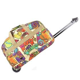 """Сумка АК 2021М  (24"""")  на колесах,  Дизайн,  1отд,  цветные коты 182685"""