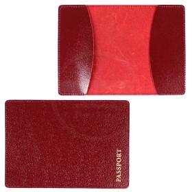 Обложка для паспорта FNX-PVS-001 натуральная кожа бордо глянец (382)  183355