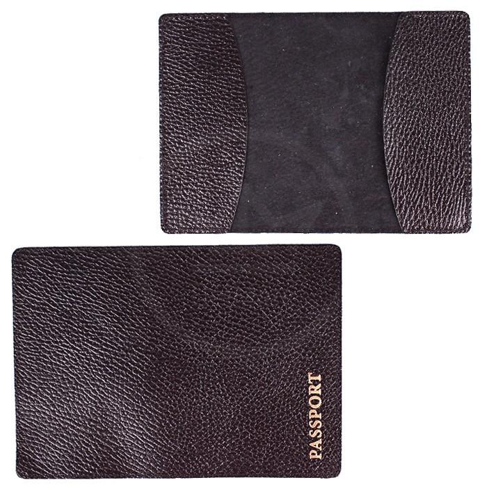 Обложка для паспорта FNX-PVS-001 натуральная кожа черный флотер (3080) Артикул: 183645 Размеры: 9 x 13 см. Бренд: Феникс