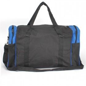 Сумка Sarabella-J 042 дорож,    б/подклада,    жесткое дно,    1отд,    плечевой ремень,    4внеш карм,    черный/синий