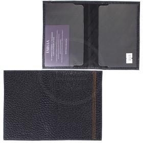 Обложка для паспорта натуральная кожа «Brooklyn»-O.88.BR,    синий