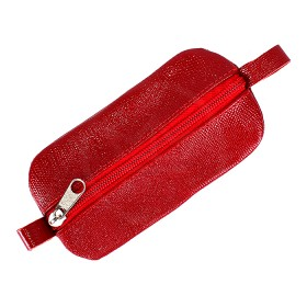 Футляр для ключей-FNX-КЛВ-104 натуральная кожа красный игуана   (273)