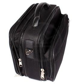 Кейс SKV-K 28/2    (каркас) ,    ножки,    2отд,    2внеш карм,    плечевой ремень,    увел.об,    черный
