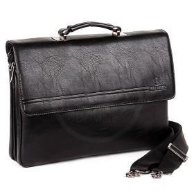 Сумка мужская искусственная кожа BF-ST 98336-6В,  5отд,  2внеш+3внут карм,  плечевой ремень,  черный 186077