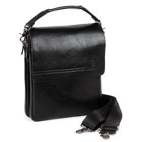 Сумка мужская искусственная кожа BF-98337-3B,  5отд,  2внеш+1внут/карм,  плечевой ремень,  черный 186091
