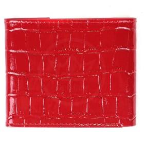 Портмоне женское Premier-М-502 натуральная кожа 1 отд,    4 карм,    красный кроко   (115)