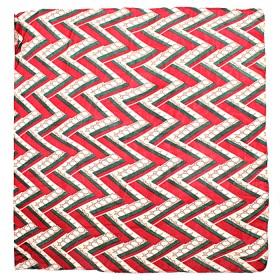 Палантин 90*180см полиэстер 100%,    плетение хлопок,    рис 38_01,    бордовый+зелен