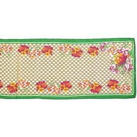 Шарф 50*155см полиэстер 100%,    плетение шифон,    рис 311_11,    зеленый