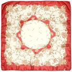Платок шейный 65*65см полиэстер 100%,    плетение  шифон,    рис 311_37,    красный