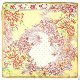 Платок шейный 65*65см полиэстер 100%,    плетение  шифон,    рис 311_39,    желтый