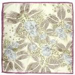 Платок шейный 65*65см полиэстер 100%,    плетение  шифон,    рис 311_41,    сиреневый