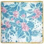 Платок шейный 65*65см полиэстер 100%,    плетение  шифон,    рис 311_41,    синий