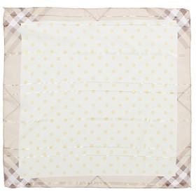 Платок шейный 50*50см полиэстер 100%,    плетение  шифон,    рис горох,    желтый
