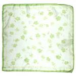 Платок шейный 60*60см полиэстер 100%,    плетение  шифон,    рис 311_61,    зеленый