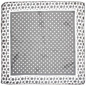 Платок шейный 60*60см полиэстер 100%,    плетение  шифон,    рис горох,    черный+белый