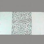 Палантин 80*180см полиэстер 100%,    плетение хлопок,    рис 321_43,    бирюзовый