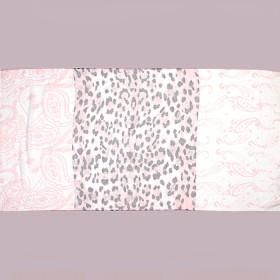 Палантин 80*180см полиэстер 100%,    плетение хлопок,    рис 321_43,    розовый