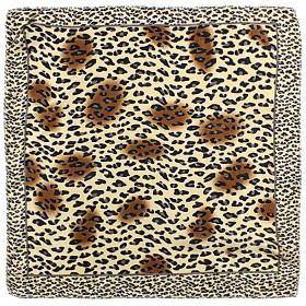 Платок шейный 50*50см полиэстер 100%,    плетение  атлас,    рис 38_10,    коричневый    (леопард)