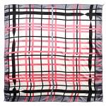 Платок шейный 50*50см полиэстер 100%,  плетение  атлас,  рис 38_27,  серый+розовый 187209