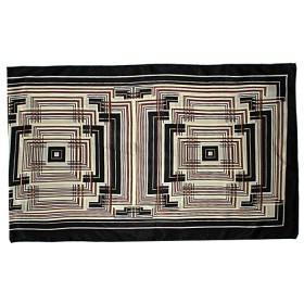 Шарф 50*160см,    полиэстер 60%,    шелк 40%,    плетение атлас,    рис 4715_17,    коричневый