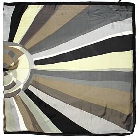 Палантин 90*180см шелк 100%,    плетение шифон,    рис геометрия,    серый