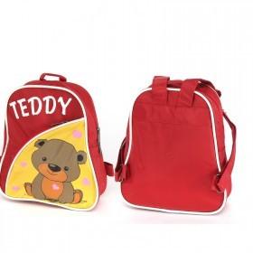 Рюкзак детский Silver Top-1040 Кроха прост спинка/Teddy,  красный/желтый,  медведь 187550