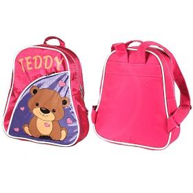 Рюкзак детский Silver Top-1040 Кроха прост спинка/Teddy,  розовый/фиолет,  медведь 187553