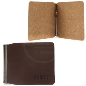 Зажим для купюр FNX-LZ-01 н/к,  коричневый темный гладкий (788)  188013