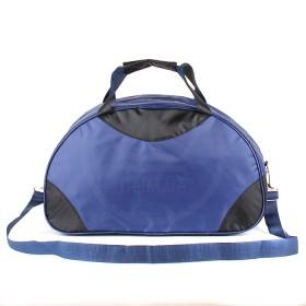 Сумка TL-Ф-06  (П-420)  дорожная, 1отд,  плечевой ремень,  синий/черный 188353