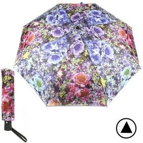 Зонт женский TR-16030,  R=56см,  полуавт;  8спиц-сталь+fiber;  3слож;  полиэстер,  (цветы)  розовый 188541