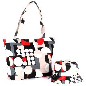 Комплект 118 (сумка пляжная+панама)  текстиль 067-HJ-083,  1отд,  геометрия бежевый 188825