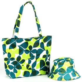 Комплект 118 (сумка пляжная+панама)  текстиль 067-HJ-118,  1отд,  цветы зеленый 188826