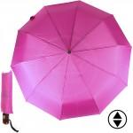 Зонт женский 16012,    R=56,    суперавт;    8спиц-сталь;    3слож;    полиэстер,    фуксия