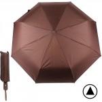 Зонт муж F 308SL,    R=56см,    полуавт;    8спиц-сталь+fiber;    3слож;    полиэстер,    коричневый